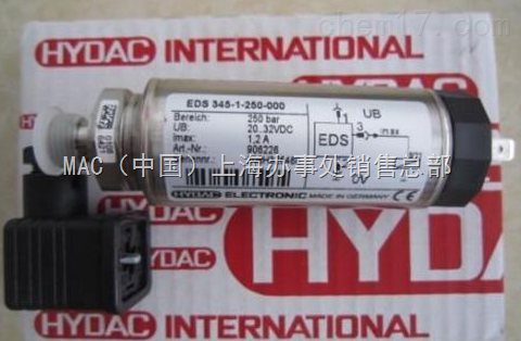 德国HYDAC传感器EDS300-3-250-000+ZBE03