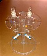 升降圆盘有机玻璃分液漏斗架  多孔位定制