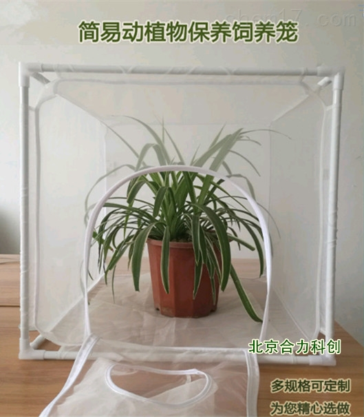 袖筒式、可拆卸式、纱网养虫笼 植物保护笼