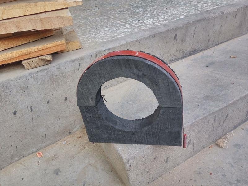 U型水管木托 管道垫木厂家直销