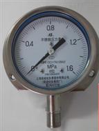 Y-100BF不锈钢径向带前边压力仪表