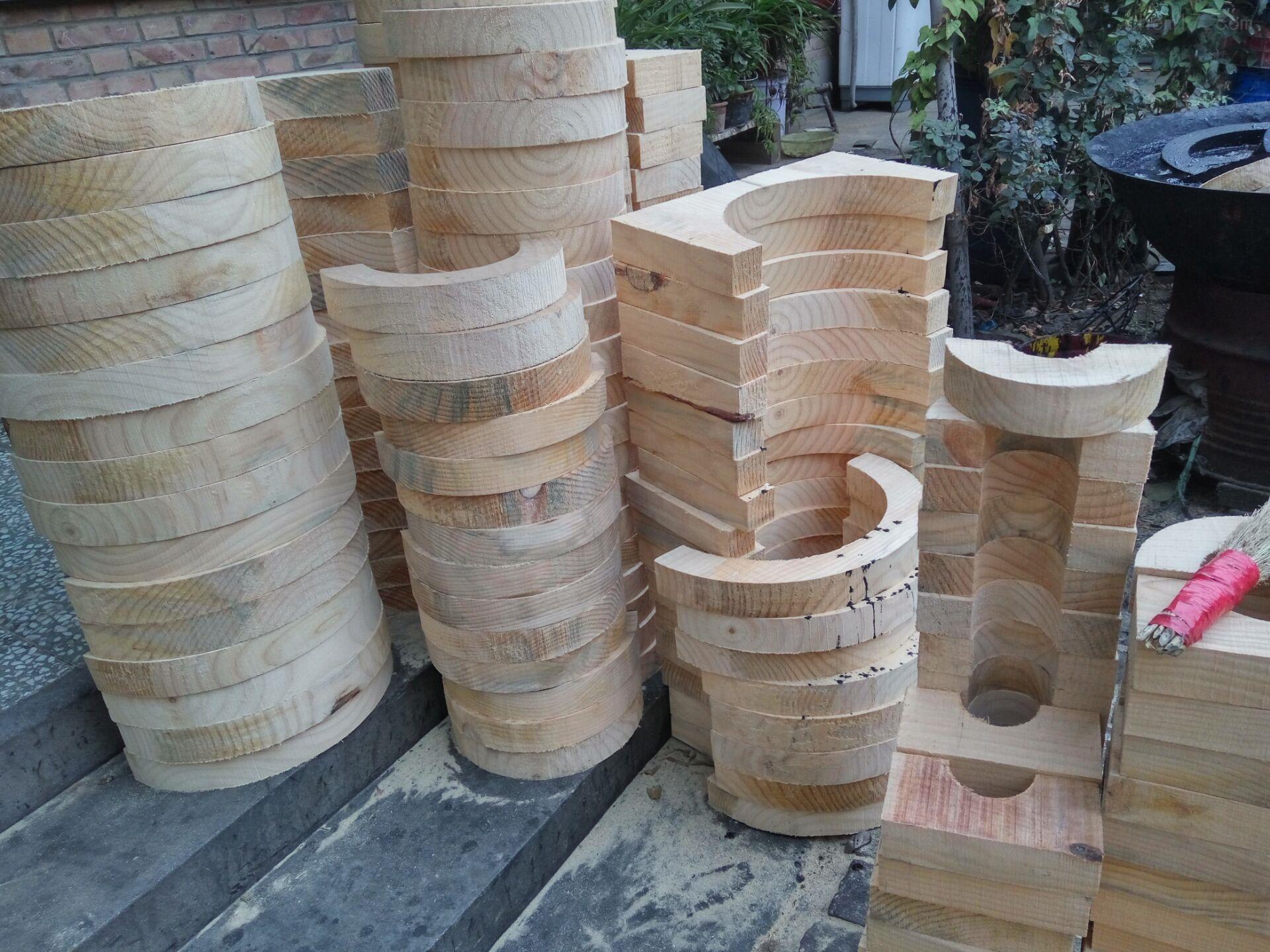 特价 直销隔冷空调管道木托  隔热管道垫木