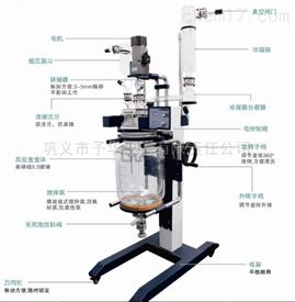 ZYSF-10L旋转型升降玻璃反应釜清洗更方便予华仪器