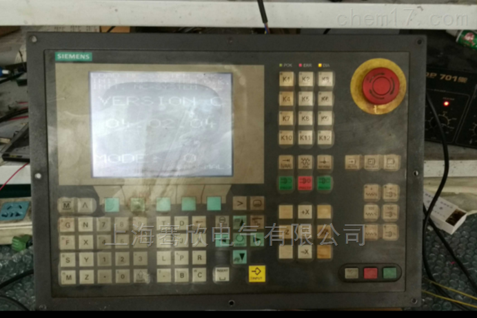 西门子铣床802C系统白屏显示条纹维修专家