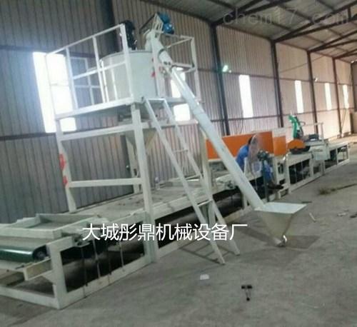 大型全自动岩棉砂浆复合板生产线