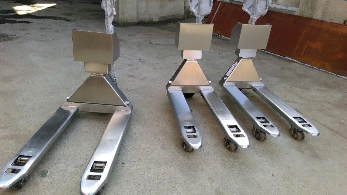 制药厂用不锈钢搬运叉车称厂家
