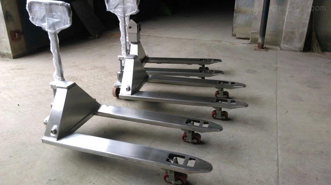 制药厂使用称重2吨的不锈钢叉车秤价格