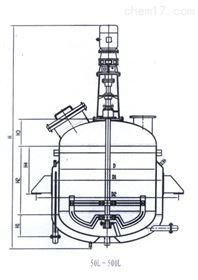 山东电加热反应釜结构图