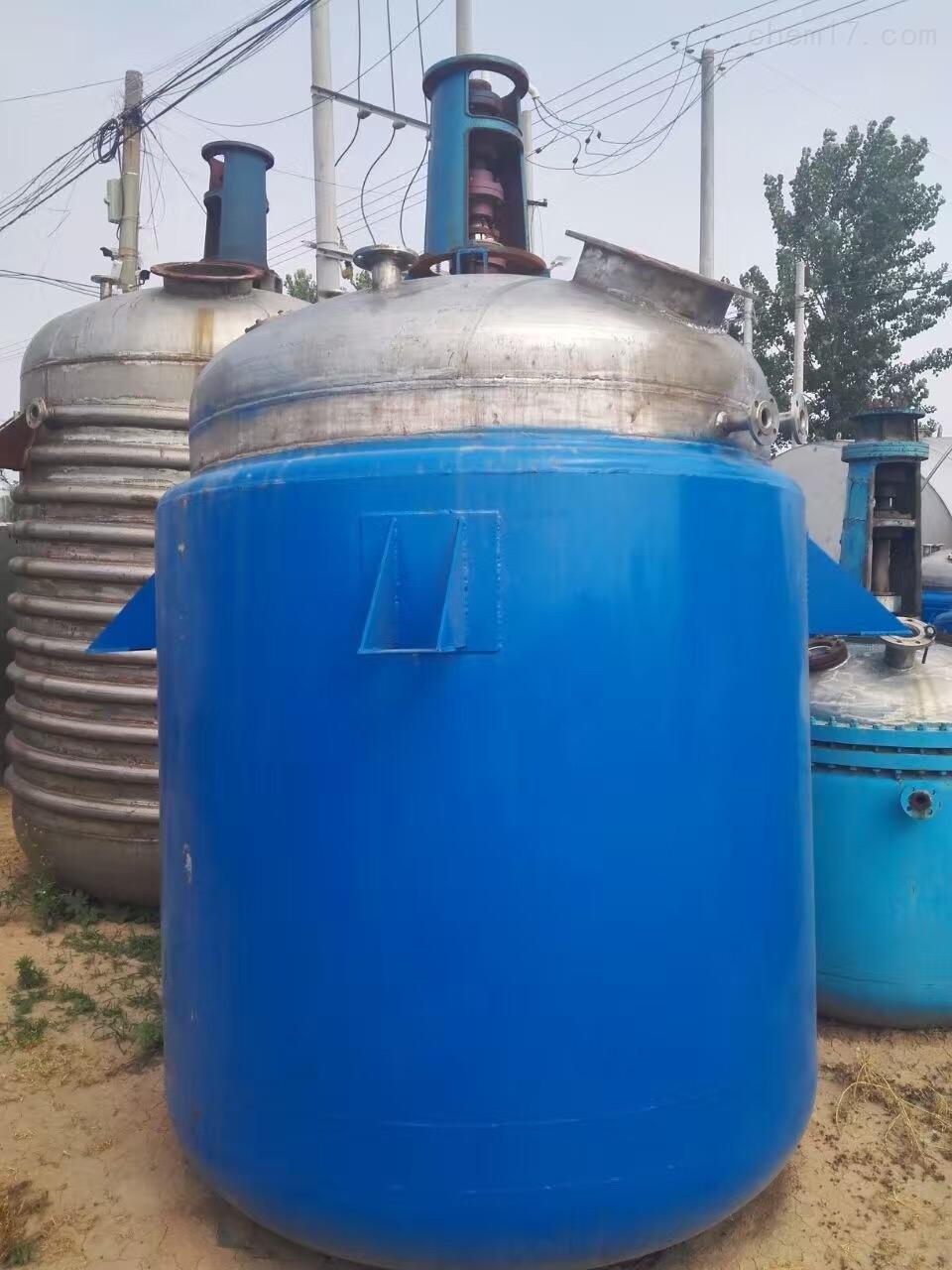 5吨外盘管反应釜二手5吨的外盘管不锈钢反应釜回收价格