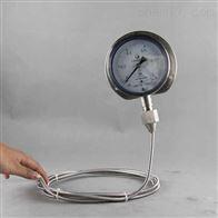 软管连接耐高温压力表