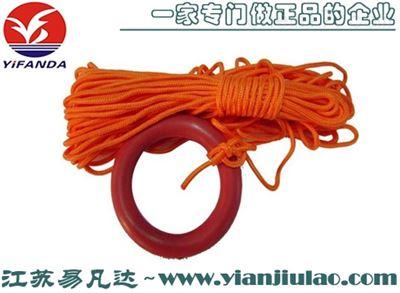 救生圈浮索、30米可浮水面安全绳可配浮环