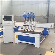 板式定制家具生產線設備開料機四工序雕刻機