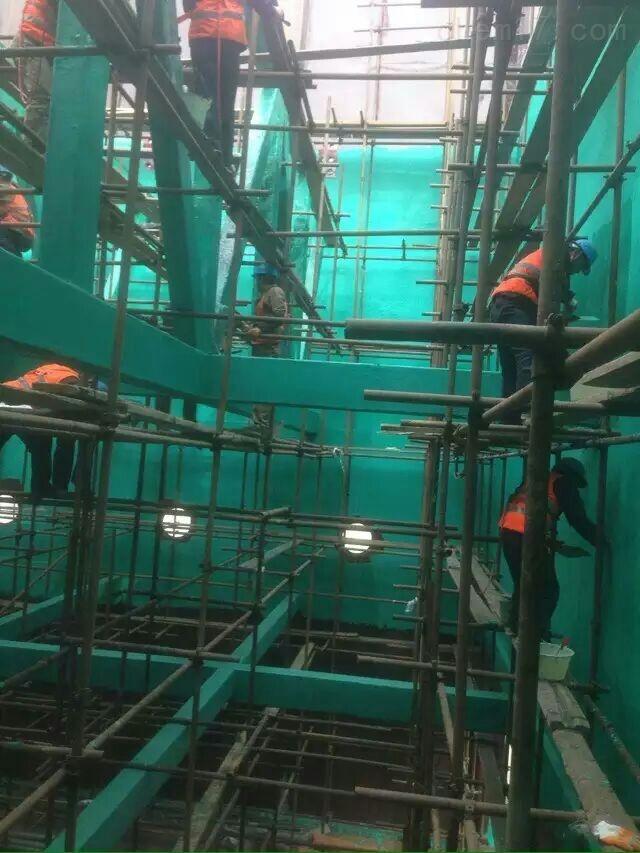 脱硫吸收塔喷淋层防腐除锈施工