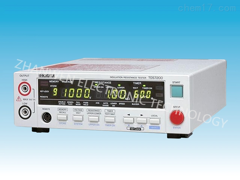 日本菊水kikusui绝缘电阻测试仪TOS7200系列