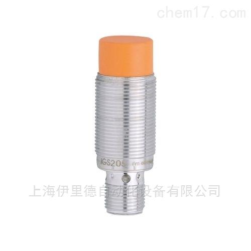 坚固的金属外壳易福门IGS205电感式传感器