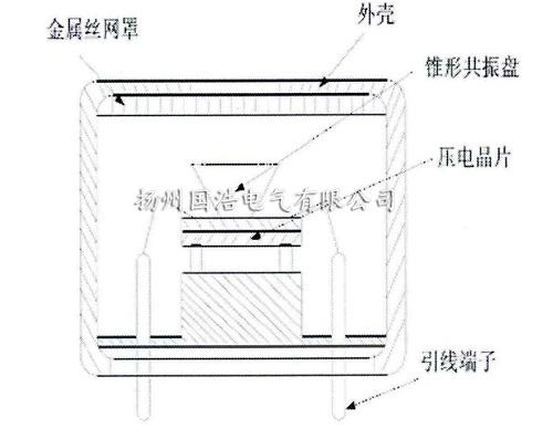 超声波接收探头结构示意图