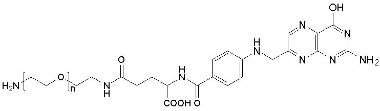 400,600) 结构式:         基本信息:     中文名称:叶酸聚乙二醇氨基
