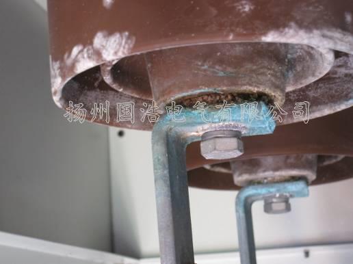 电缆终端铜排因铜锈产生的放电现象