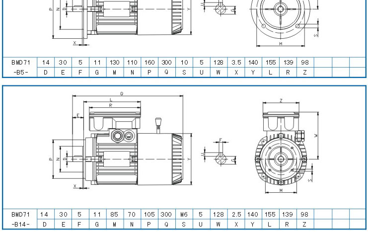 厂家供应紫光bmd7134刹车电机