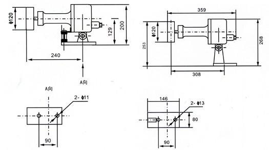 报警器 hqsg-g型声光报警器 ac220v 100w 语音 音量可调 跑偏开关hq