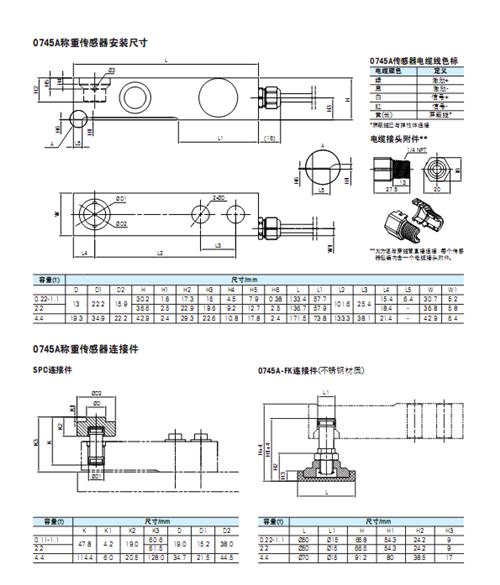 0745A-4.4称重传感器