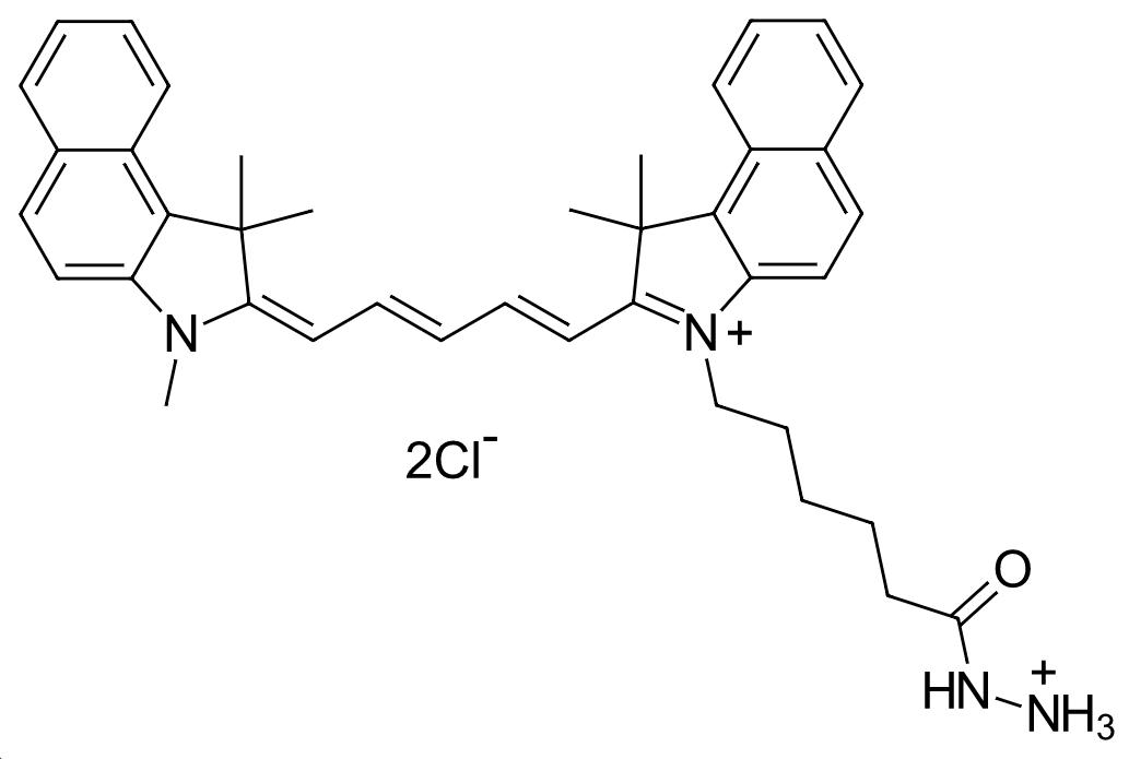 cyanine5.5 hydrazide,羰基染料cy5.5酰肼图片